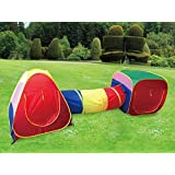 Cubby-Tube-Teepee 3pc Pop-up Play Tent Children Tunnel Kids Adventure Station by POCO DIVO