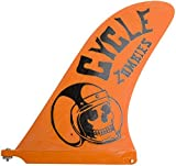 Captain Fin Co. Cycle Zombies Crash Helmet 10 Surfboard Fin, Orange