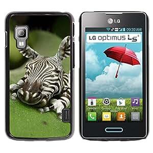 For LG Optimus L5 II Dual E455 E460 Case , Baby Cute Art Sleeping Nature - Diseño Patrón Teléfono Caso Cubierta Case Bumper Duro Protección Case Cover Funda