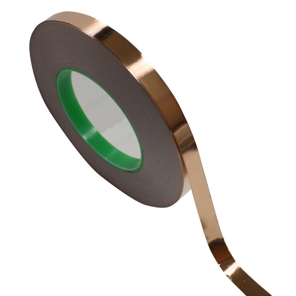 1/2 inch x 55 yds Copper Foil Tape - (12mm x 50m) EMI Shielding Conductive Adhesive Tape