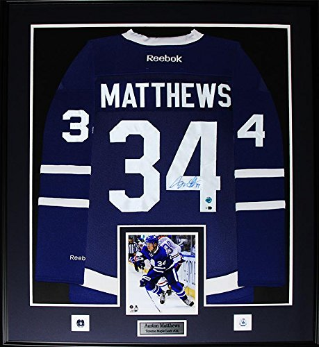 free shipping bcfb6 52bcc Auston Matthews Toronto Maple Leafs Signed Jersey NHL Hockey Collector Frame