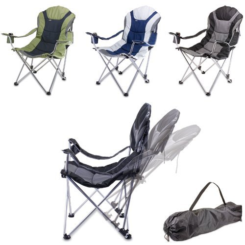 ONIVA - a Picnic Time Brand Portable Reclining Camp Chair, Navy