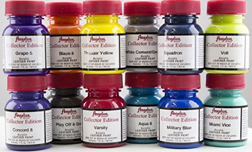 Edition Collectors Twist (Angelus Collector Edition Acrylic Paint 12pk - With Paint Brush Set)