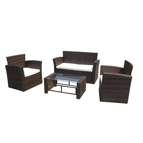 Xinglieu Sofá y sillones de jardín, Juego de 8 Unidades de ...