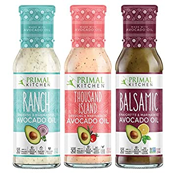 "6e972bcc3 Primal Kitchen Avocado Oil""Classic"" Dressing & Marinades Three  Pack, Whole 30 Approved"