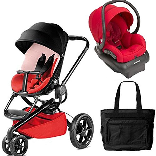 Quinny Moodd Travel System with Bag in Bold Block Red and