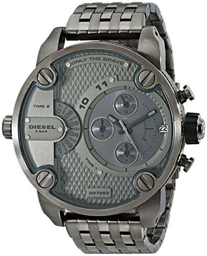 Diesel Men's DZ7263 Little Daddy Series Analog Display Analog Quartz Grey Watch