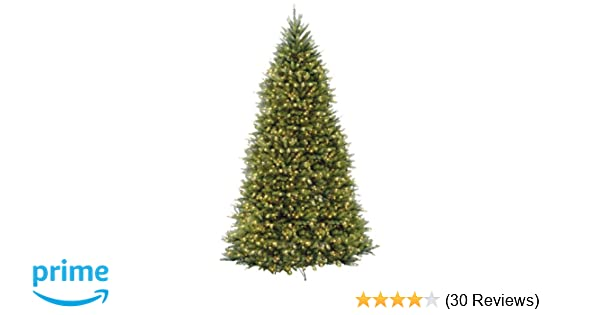 amazoncom national tree 12 foot dunhill fir tree with 1500 clear lights hinged duh 120lo s home kitchen - Christmas Tree Amazon