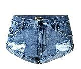 Batedan Fashion Women Summer Low Waist Beach Jeans Hot Pants Casual Denim Shorts