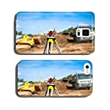 Surveyor equipment optical level or theodolite at construction cell phone cover case iPhone5
