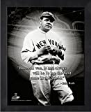 Babe Ruth New York Yankees ProQuotes Photo (Size: 12'' x 15'') Framed