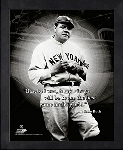 Babe Ruth New York Yankees ProQuotes Photo (Size: 12'' x 15'') Framed by Photo File
