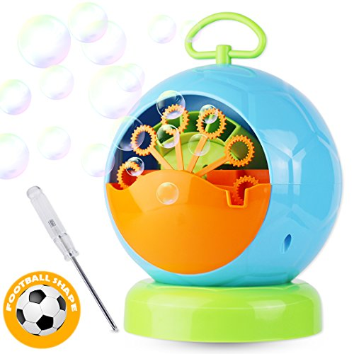 Dadoudou Bubble Machine Automatic Portable Football Shape Bubble Blower for Kids Blowing Over 500 Bubbles Per Minute for Outdoor or Indoor Party By by Dadoudou
