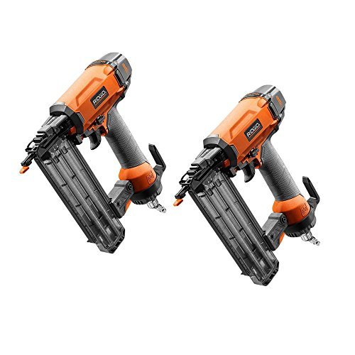 Angle Nailer Brad (Pair of RIDGID - R213BNE - 2-1/8 in. 18-Gauge Brad Nailer Combo with Hex Grip & Side Load Magazine Air Tool)