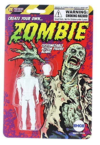 "Spherewerx Create Your Own Comic Book Hero Zombie Customizing Blank 4"" Action Figure from Spherewerx"