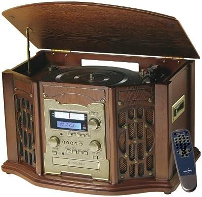 Inovalley Retro11 Minicadena Tocadiscos CD Cassette Radio: Amazon ...