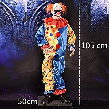 WSJDE Payaso de pie eléctrico Decoración de Halloween Fantasma ...