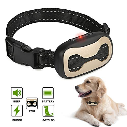 Bark Collar 7 Adjustable Sensitivity Anti-Barking Collar Beep/Vibration Mode No Bark Collar for Small Medium Large Dogs