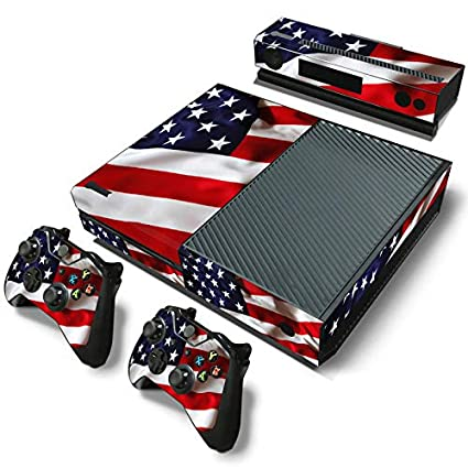 USA Flag SKINOWN Skin Sticker for Xbox One Console and 2 Controller with 1 Kinect Skins