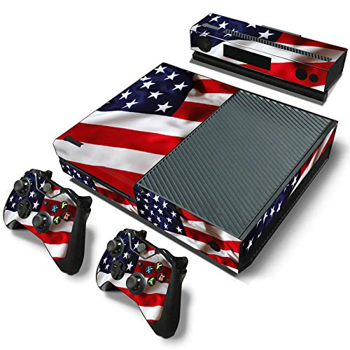 SKINOWN Skin Sticker for Xbox One Console and 2 Controller with 1 Kinect Skins (USA Flag)