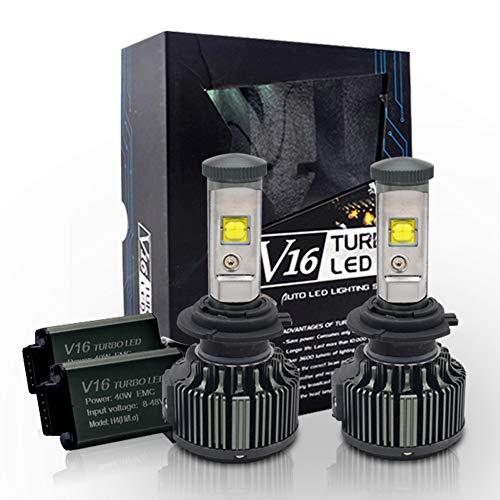 Pack for 2 PolarLander Auto Car 8V-48V LED Headlamp 30W V16 Turbo LED Lamp Auto 3600LM LED Head Light Headlight Kit H7