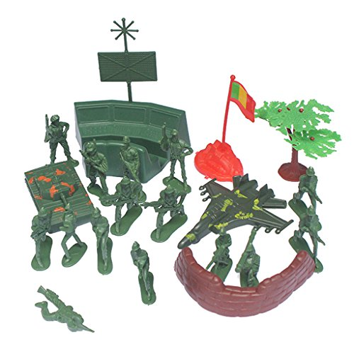 Jili Online 21Pcs/Set Plastic Model 2inch Soldier Action Figure Toys Army Sand Table Accessory Toys Gifts