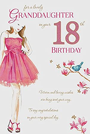 Granddaughter 18th birthday card amazon kitchen home granddaughter 18th birthday card bookmarktalkfo Images