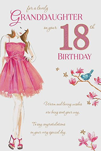 Granddaughter 18th Birthday Card Amazoncouk Kitchen Home