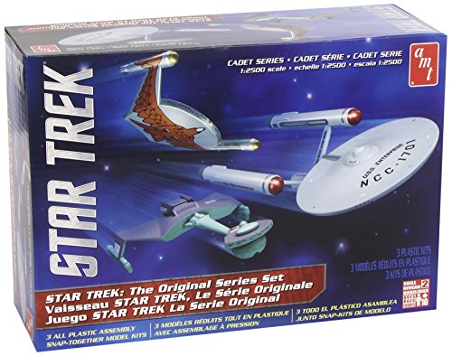 AMT SNAP Star Trek Cadet Series TOS Era Ship Set ()