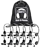 Cheap Hamilton Buhl Sack-O-Phones, 10 HA2 Personal Headsets, Foam Ear Cushions in a Carry Bag
