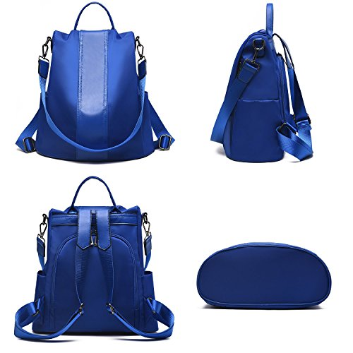 Waterproof Anti Women Blue Ladies Shoulder Backpack theft Bags Barwell Nylon Rucksack bags School Dayback AnHI8BqBwU
