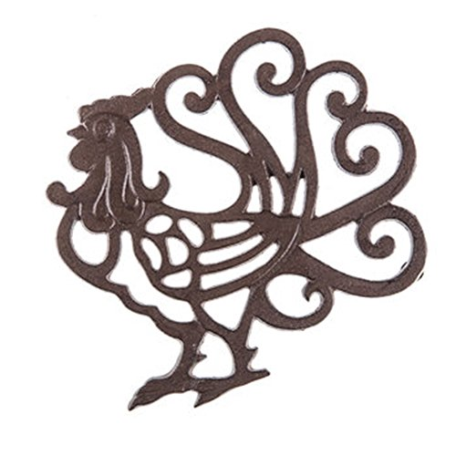 Rustic Cast Iron Metal Kitchen Trivet or Home Wall Decor ()