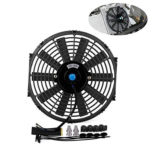 Matedepreso Universal High Performance 12V Slim Electric Cooling Radiator Fan Push Pull Engine Fans With Fan Mounting Kit(black): Amazon.co.uk: Kitchen & Home