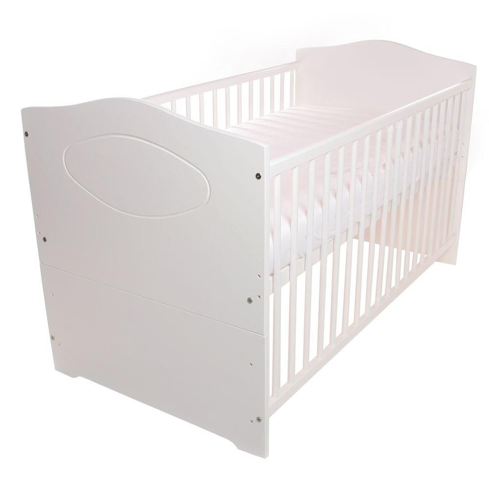 BABYBLUME BABYBLUME BABYBLUME Babybett Kinderbett Jugendbett 140x70 umbaubar - Kuba - weiß (inkl. Matratze Dreamer Plus) af1be2
