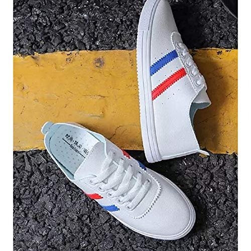 Spring Casual Black Women's Red ZHZNVX Flat Toe Red Polyurethane Heel Sneakers Summer Round PU amp; White Comfort Shoes XZRqqxnwF8