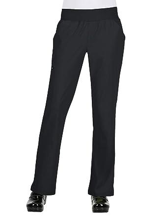 c8e251ea62f Amazon.com: koi Basics 732 Women's Laurie Flare Leg Knit Waist Yoga ...