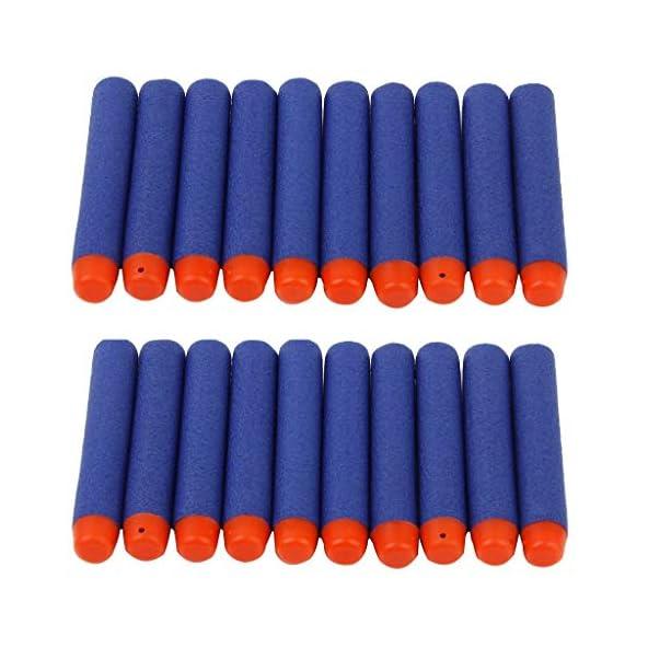 JERN Toy Bullet Foam Dart Bullets for Nerf N-Strike Elite Guns (Pack of 20)