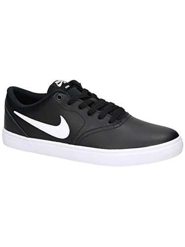 0de6ee7fb9aa Image Unavailable. Image not available for. Color  Nike SB Check Solarsoft  Leather Unisex Skate Shoes Black White ...