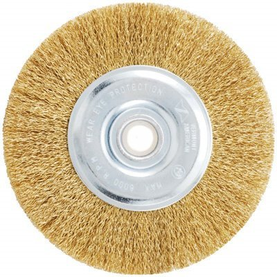 Vermont American 16798 4-Inch Fine Brass Wire Wheel Brush with 1/4-Inch Hex Shank for Drill