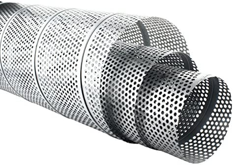 MKK Tube en t/ôle agraf/ée perfor/ée galvanis/é 1 m de long t/ôle perfor/ée de 5 mm  /Ø 80 x /Ø 200 mm