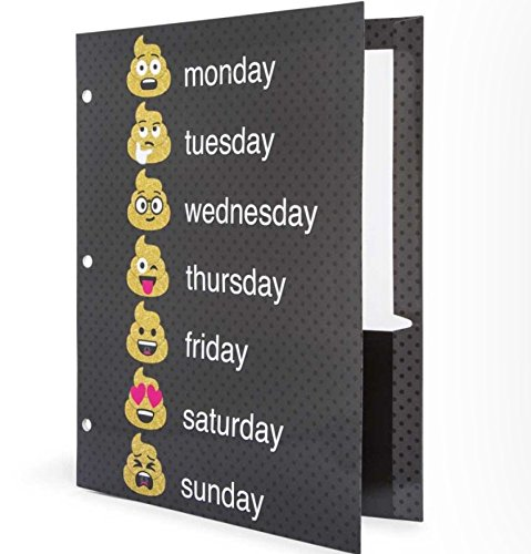 Amazon.com : Emoji Poop School Folders Portfolios Emoticon 3 Pack ...