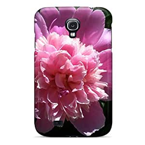 New Diy Design Pink Peony For Galaxy S4 Cases Comfortable For Lovers And Friends For Christmas Gifts