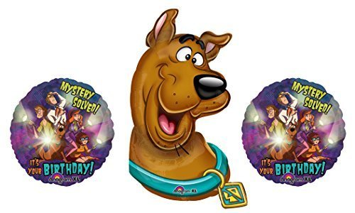 Scooby Doo and the Gang Birthday Balloon Bouquet - 3 Foil Balloons