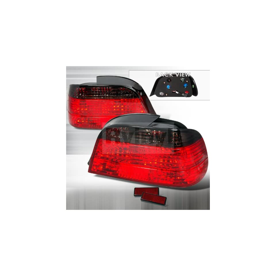 Spec D Tuning LT E384G APC Bmw E38 7 Series 4 Door 740i 750il Smoked Red Tail Lights Lamps