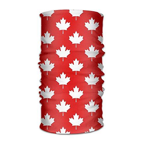Canada Maple Leaf Pattern Headwear Bandanas Headscarf Helmet Liner Head Wrap Scarf by WOOD-RAIN