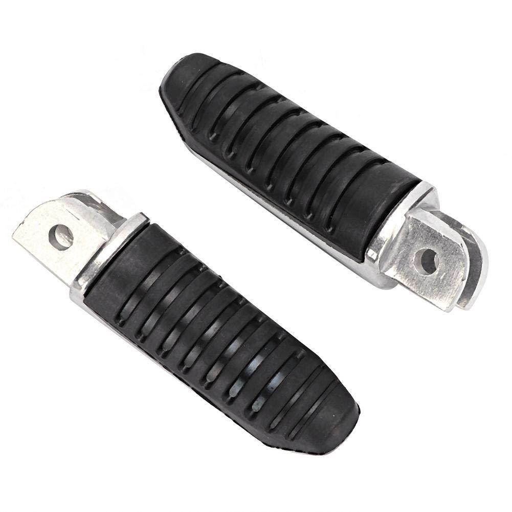 pedane poggiapiedi anteriori in alluminio 2 pezzi nero misura per DL650 V-Strom 2004-2012 Pedane moto