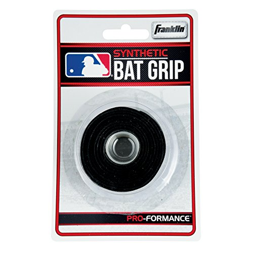 Franklin Sports MLB Synthetic Replacement Bat Grip, Black