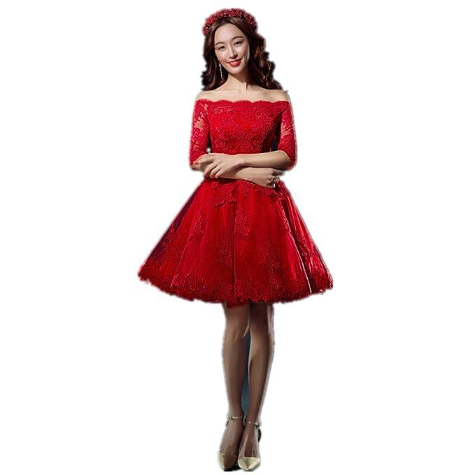 SUNLONG - Vestido de novia - ajustado - Sin mangas - Mujer rojo rosso 60