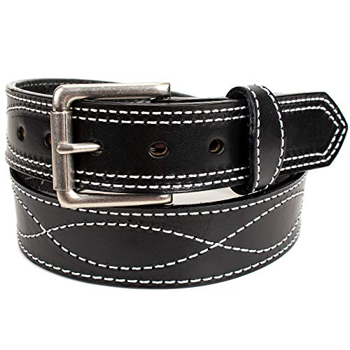 (Amish Made Western Leather Tool Belt (42, Black))