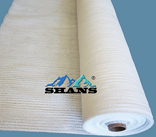 SHANS 30% UV Resistant Fabric Shade Cloth Pure White With Clips Free (10 ft x 10 ft) Resistant Clothes